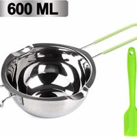 Stainless Steel Double Pot with Silicone Spatula for Melting Butter