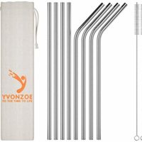Yvonzoe Stainless Steel Drinking Straws
