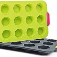 Silicone Muffin Pan Set 12 Cup