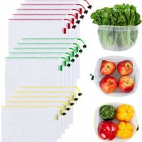 Ecowaare Set of 15 Reusable Mesh Produce Bags - 3 Sizes